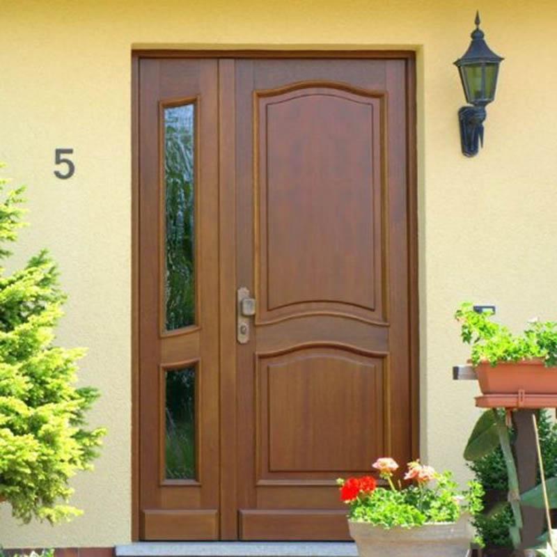 mẫu cửa gỗ 2 cánh lệch đẹp