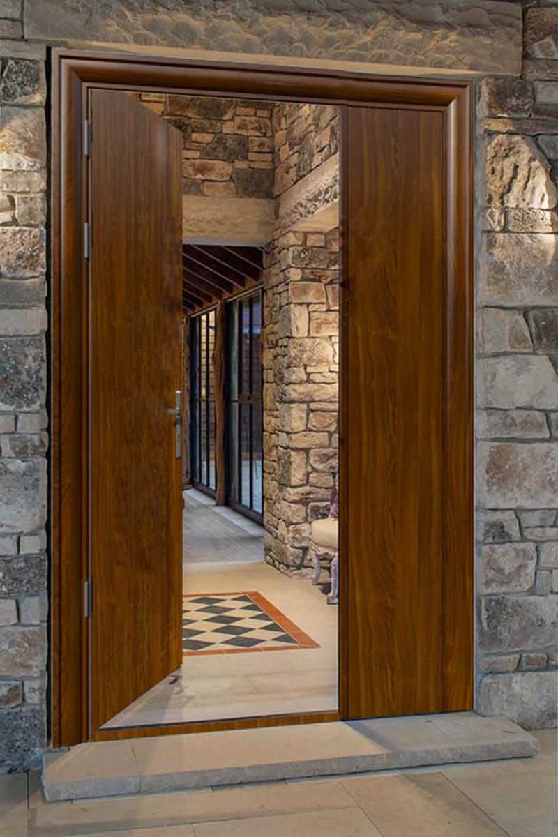 Mẫu cửa gỗ 2 cánh lệnh