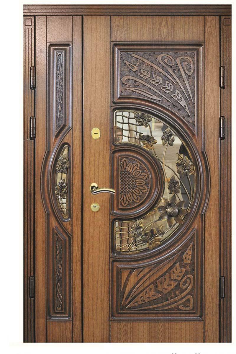 Mẫu cửa gỗ 2 cánh lệch