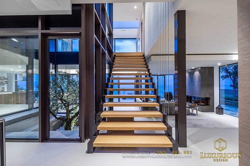 Thiết kế cầu thang biệt thự
