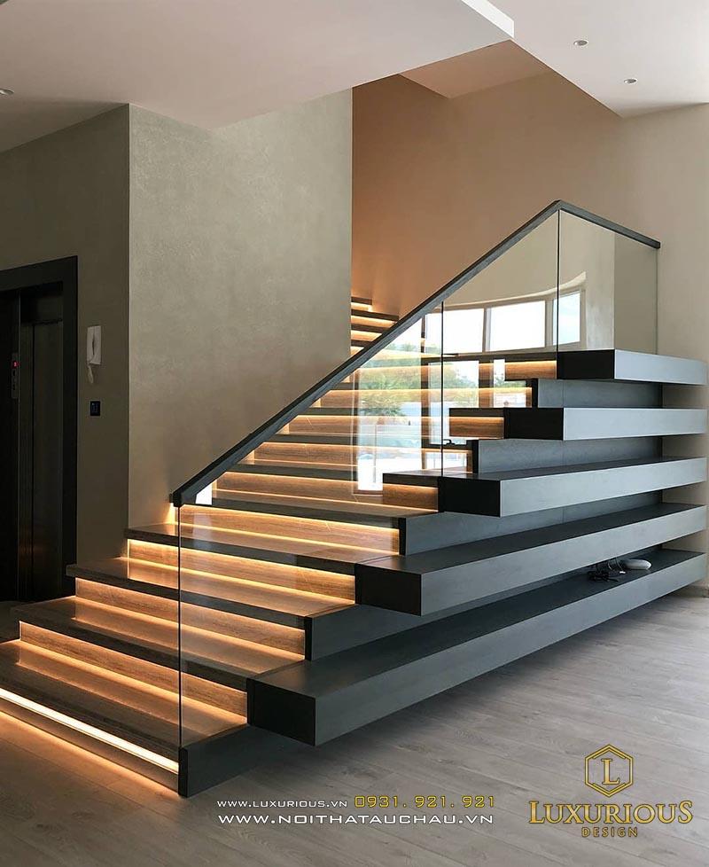Thiết kế cầu thang nhà biệt thự đẹp