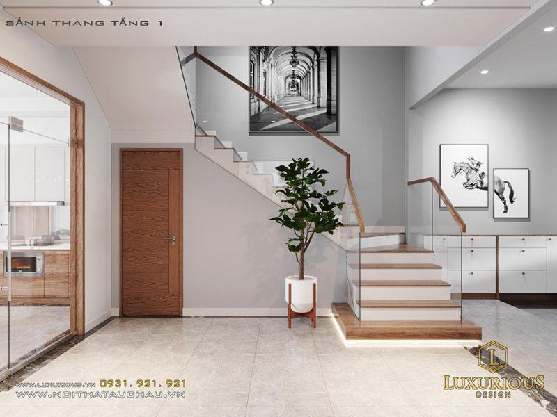 Thiết kế cầu thang nhà phố đẹp hiện đại