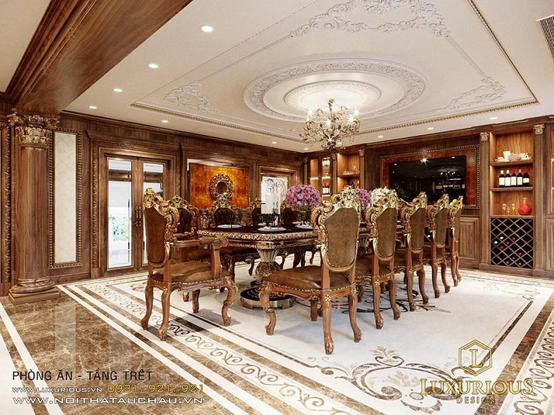 Phòng ăn cổ điển đầy mê hoặc