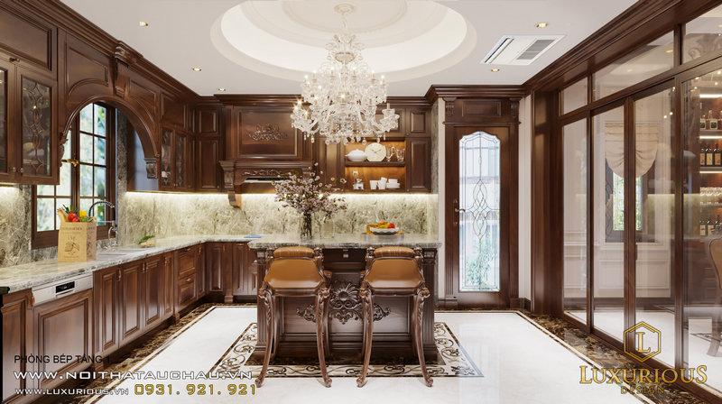 Thiết kế phòng bếp tầng 1
