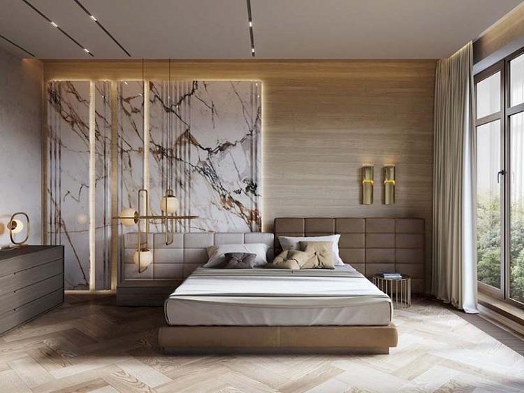 Phòng ngủ nam đơn giản, sang trọng