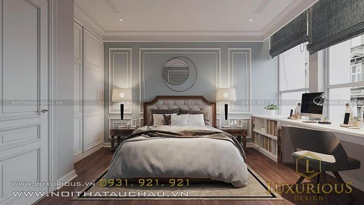 phòng ngủ nam phong cách tân cổ điển