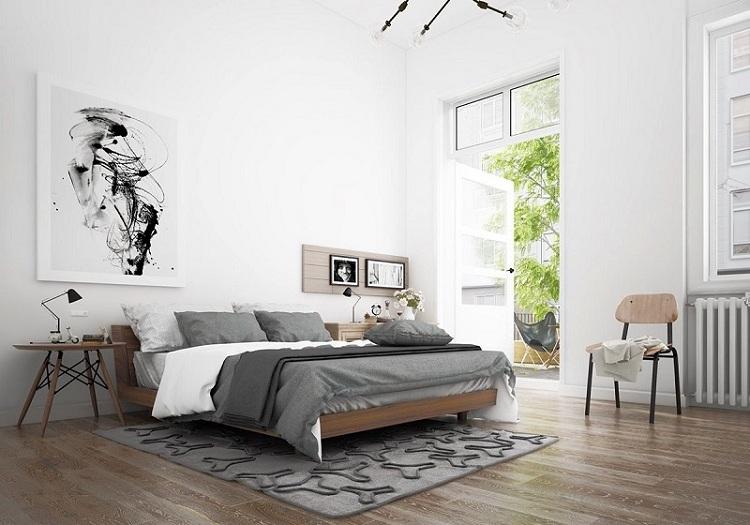 phòng ngủ nam đơn giản nhẹ nhàng