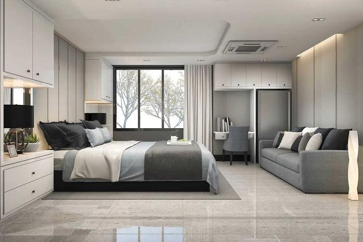 Phòng ngủ nam màu sắc tươi mới