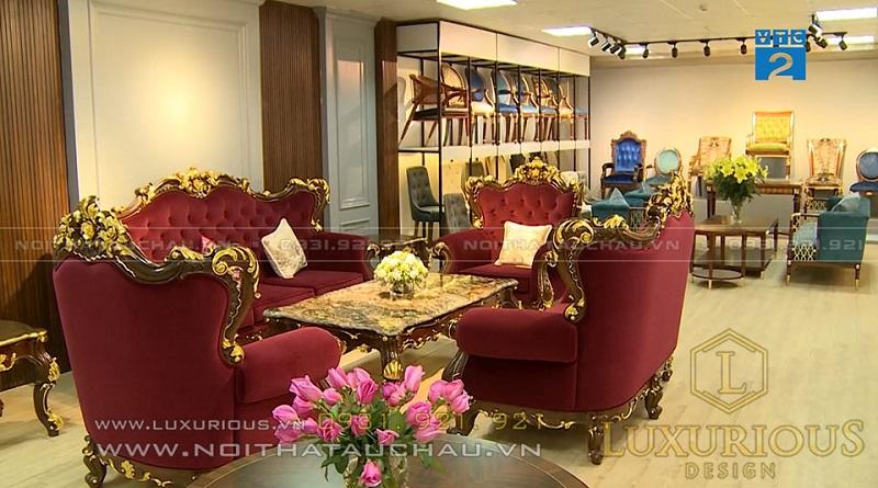 Mẫu bàn ghế phòng khách phong cách cổ điển cách tân