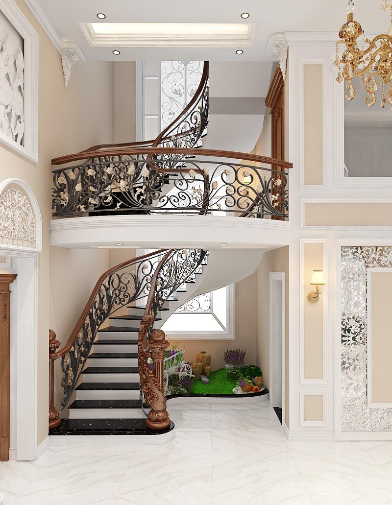 Luxurious Design tư vấn thiết kế sản xuất cầu thang gỗ