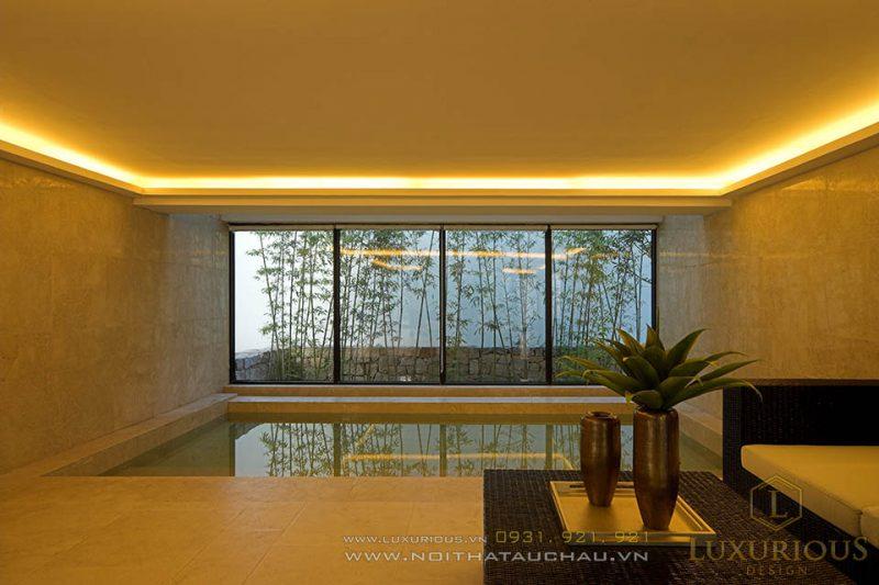 Nhà đẹp có hồ bơi cực đẹp được thiết kế trong nhà