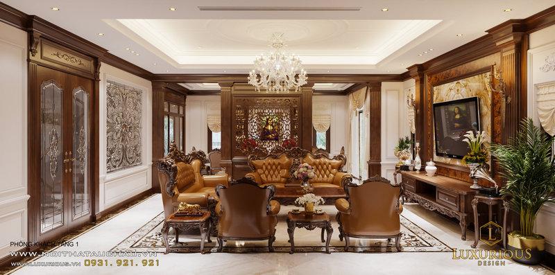 Luxurious Design - Tư vấn thiết kế phòng khách cổ điển Việt Nam