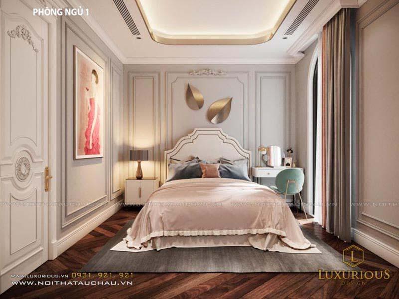 Không gian phòng ngủ nhỏ đẹp phong cách tân cổ điển