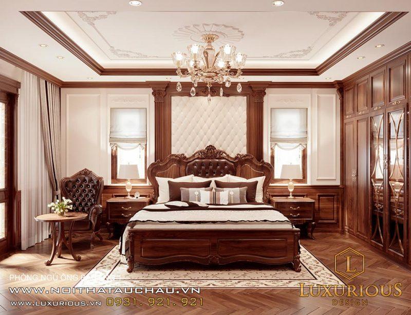 Phòng ngủ cổ điển tinh tế và sang trọng