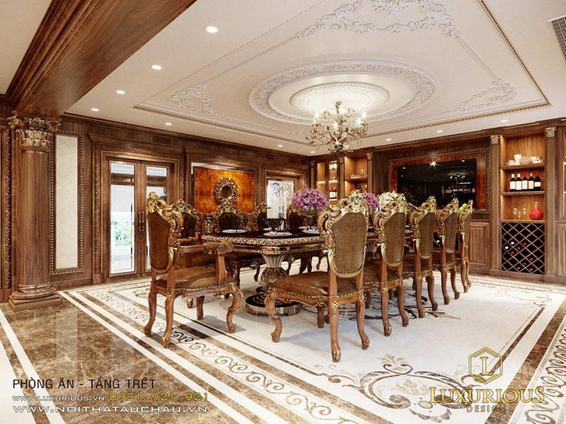 Nội thất phòng ăn phong cách cổ điển
