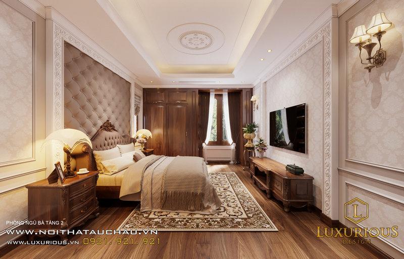 Phòng ngủ phong cách bán cổ điển