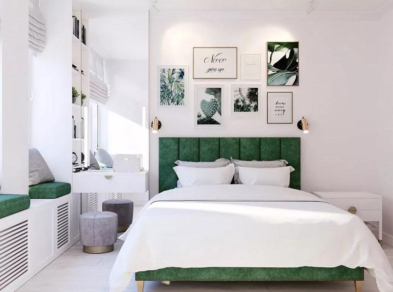 Màu xanh lá trong thiết kế nội thất