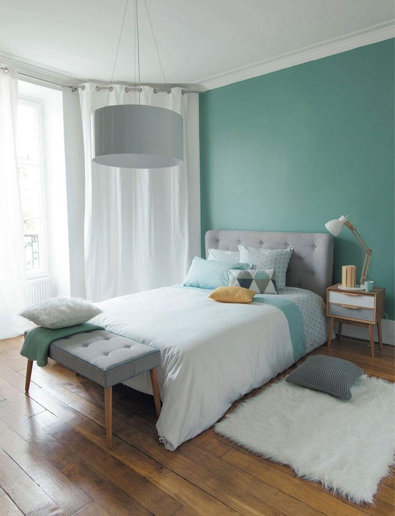 Trang trí phòng ngủ màu xanh ngọc