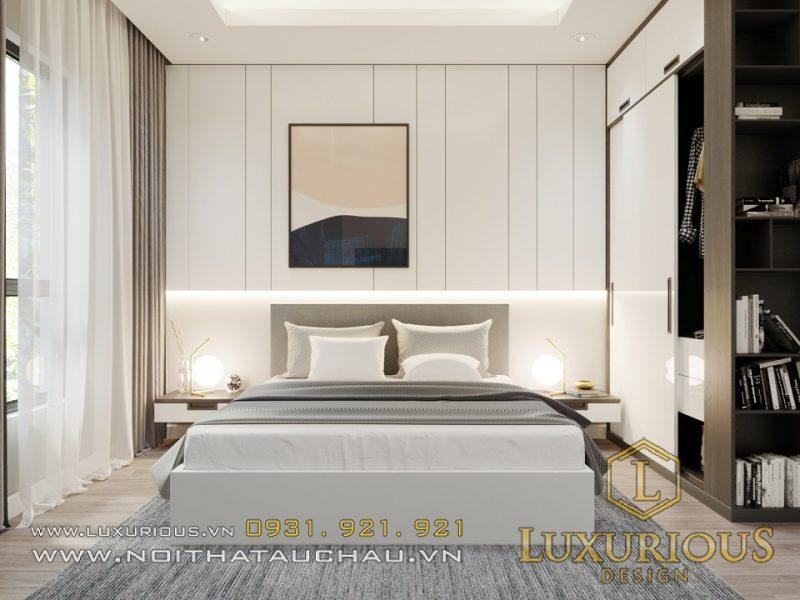 Không gian ngủ với 6m2 mà đầy đủ tiện nghi