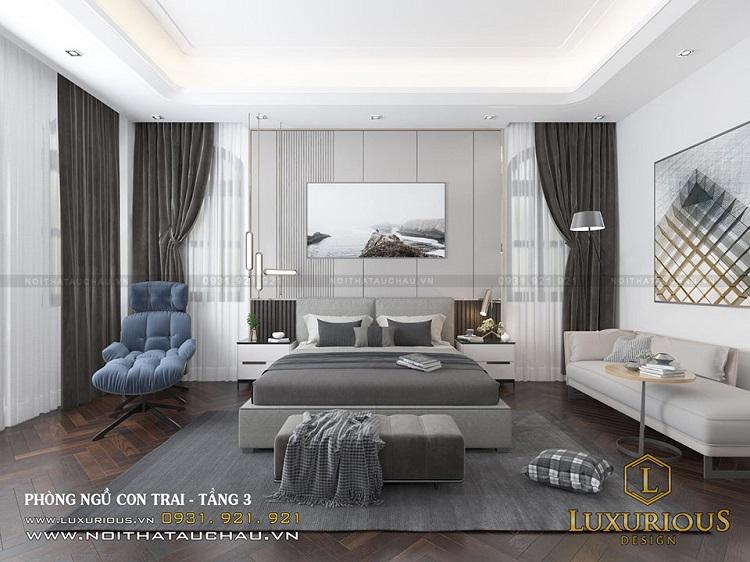 Mẫu thiết kế phòng ngủ đẹp hiện đại tinh tế