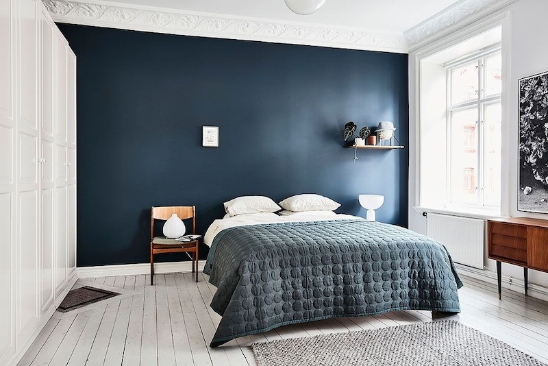 Phòng ngủ với thiết kế đơn giản nhưng cực kỳ sang trọng