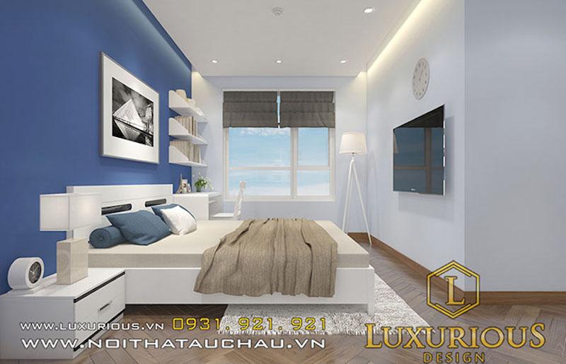 Màu xanh dương được dùng trong thiết kế nội thất