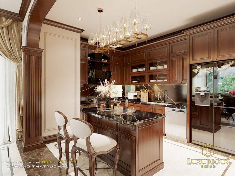 Nội thất phòng bếp phong cách cổ điển