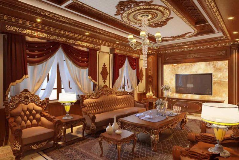 Nội thất Phòng khách cổ điển Việt Nam