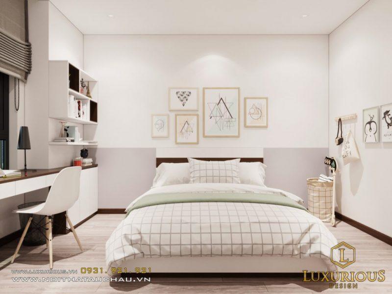 Thiết kế phòng ngủ nữ màu trắng