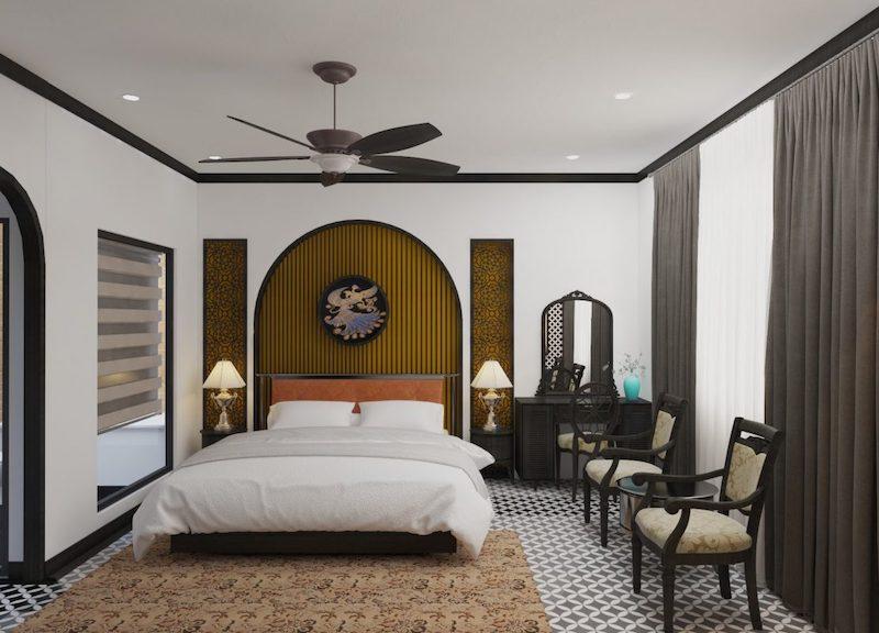 Thiết kế phòng ngủ đẹp phong cách Indochine