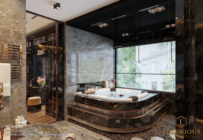 Mẫu nhà vệ sinh có bồn tắm xông hơi